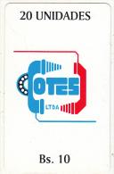 BOLIVIA - Telecpm Logo, Cotes LTDA Telecard, First Issue 20 Units(Bs.10), Used - Bolivie