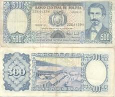 BOLIVIA BILLETE DE 500 PESOS BOLIVIANOS AÑO 1981 NOTE PROCER AVAROA - Bolivia
