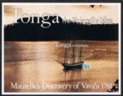 Tonga SGMS797 1981 Bicentenary Of Maurelle's Discovery Of Vava'u Miniature Sheet Unmounted Mint - Tonga (1970-...)