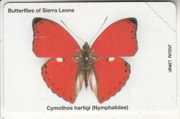 SIERRA LEONE - Butterflies Of Sierra Leone/Cymothoe Hartigi(10 Units), Mint - Sierra Leone