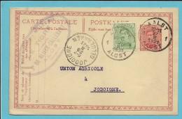 137 Op Entier Met Stempel AALST , Met Privestempel BRASSERIE - MALTERIE / LE TIGRE / DE BLIECK-CALLEBAUT / ALOST - 1915-1920 Albert I.