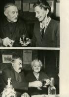 France Nesles La Gilberade Double Noces D'Or Couples Fournier Bergot Ancienne Photo 1950