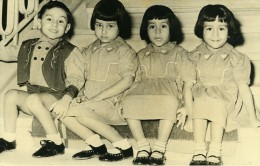 Turquie Izmir Enfants Quadruplets De Mevlut Susurluk Ancienne Photo 1954