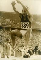 Allemagne Berlin Manfred Steinbach Saut En Longueur Record Ancienne Photo 1960