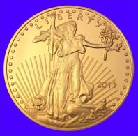 Médaille Plaqué OR 24 Carats 28 G     50 Dollars States Of America - Etats-Unis