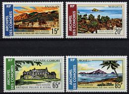Comores, Comoros, 1971, Landscapes, Scenery, MNH, Michel 119-122