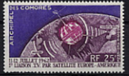 Comores, Comoros, 1962, Telstar Satellite, Space, Espace, MNH, Michel 51