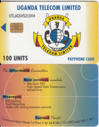 UGANDA - UTL Logo 100 Units, Used
