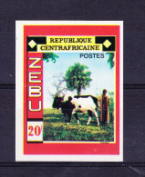 REPUBLIQUE CENTRAFRICAINE, SG 220 ** MNH, NON DENTELE, ZEBU BULL.  (6N184) - Vaches