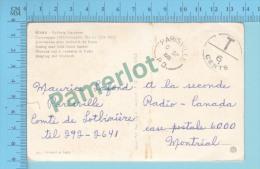 ( Sans Timbre 6 Cents Due Postmark Cover Parisville 1968 P.Q. ) Postmark, T 6 Cents Due 2 Scans - 1952-.... Règne D'Elizabeth II