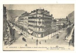 Cp, 38,  Grenoble, Boulevard Gambetta Et Avenue Alsace Lorraine - Grenoble