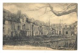 Cp, Gare, Soissons - La Gare Du C.B.R. - Gares - Sans Trains