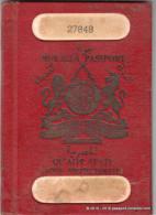 MUKALLA PASSPORT - QU'AITI STATE (ADEN PROTECTORATE) 1959, Revenues passeport RARE!