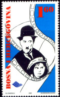 ART-CINEMA-CHARLES CHAPLIN-BOSNIA-HERCEGOVINA-2001-MNH-B3-782 - Cinema