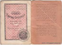 OTTOMAN EMPIRE passport passeport reisepass 1914 REVENUE issued for an ISRAELIT (Jew) WOW!