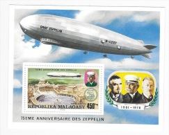 Malagasy 1976 Zeppelin S/S MNH - Madagascar (1960-...)