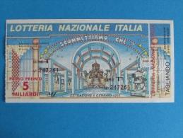 BIGLIETTO LOTTERIA ITALIA 1994 CON TAGLIANDO - Biglietti Della Lotteria