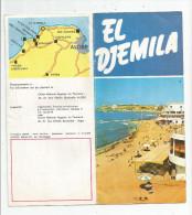 Dépliant Touristique , ALGERIE , EL DJEMILA  , 8 Pages , Plan ,  Frais Fr : 1.55€ - Tourism Brochures