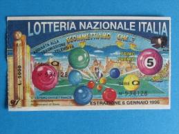 BIGLIETTO LOTTERIA ITALIA 1995 - Biglietti Della Lotteria
