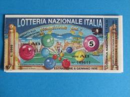 BIGLIETTO LOTTERIA ITALIA 1995 CON TAGLIANDO - Biglietti Della Lotteria