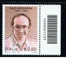 2009 - ITALIA REPUBBLICA CODICE A BARRE 1239 ** - Códigos De Barras