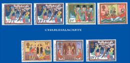 GREAT BRITAIN 1986 CHRISTMAS U.M. S.G. 1341-1346 INC. 1342Eu  NOEL  N.S.C. YT 1247-1252 AVEC 1247a - Unused Stamps