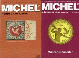 Briefmarken MICHEL Rundschau 1/2016 Sowie 1/2016-plus Neu 12€ New Stamps Of The World Catalogue And Magacine Of Germany - Telefonkarten