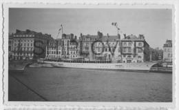 magnifique yacht � identifier - photo authentique des ann�es 30s- bateau/ship/schiff