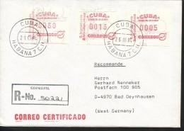 Kuba. - Automatenmarken  FDC - Kuba