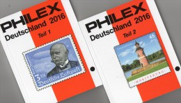 Philex Katalog 2016 Deutschland Teil 1+2 Neu 20€ D Altdeutschland DR III.Reich Besetzung Saar AM-/BI-/SBZ DDR Berlin BRD - Kolonien Und Auslandsämter