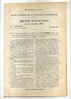 - COMMANDE AUXILIAIRE POUR LES ROUES AVEC JANTE A COURONNE ELASTIQUE . BREVET D'INVENTION DE 1902 . - Cars