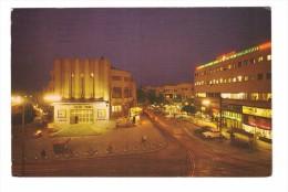 Israel Tel Aviv 2nd November Square At Night Mugrabi Cinema And Pinsker + Timbre - Israel