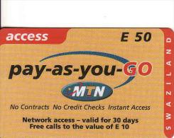 Swaziland, MTN, E50, - Swaziland