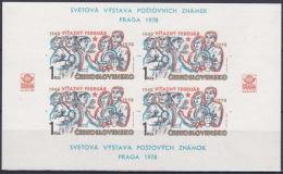 ** Tchécoslovaquie Mi Bl.34 (Yv 2257 Le Feuille), (MNH) - Hojas Bloque