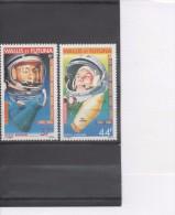 """WALLIS Et F. Espace - Premiers Hommes Sur La Lune :20 Ans -A. Shepard Et """"Freedom 7"""" Et Y. Gagarine Et """"Vostok 1"""" - Posta Aerea"""