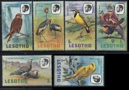 LESOTHO 1982 Definitives  Birds Mi. 330/36  Serie Cpl. 6v. Nuovi** - Lesotho (1966-...)