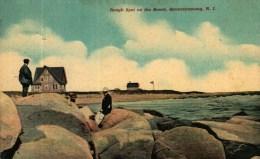 CPA  -    Etats-Unis  (R.I.)     Rough Spot On The Beach   QUONOCHONTAUG - Etats-Unis