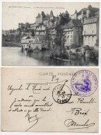 UZERCHE - Le Moulin Et Les Vieux Chateaux  - Cachet Du Ministère De La Guerre   (84209) - Uzerche
