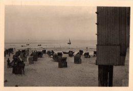 Photo Originale Plage et Maillot de Bain - Ambiance Plage en Allemagne dans les ann�es 40 - Cabines de plage transat