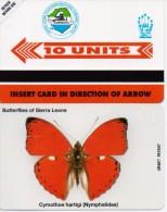 SIERRA LEONE PHONECARD BUTTERFLY OF SIERRA LEONE - 10units-MINT(2) - Sierra Leone