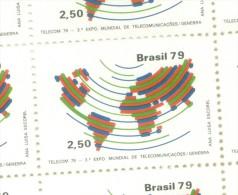 BRESIL BRASIL BRAZIL  YVERT NR. 1392  MNH AÑO 1979 3EME EXPOSITION MONDIALE DES TELECOMMUNICATIONS GENEVE SUISSE TBE - Unused Stamps