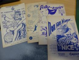 LOT 4 PARTITIONS CARNAVAL DE NICE CHANSON OFFICIELLE 1934 35 36 38 ASSO  CASSARINI - Other