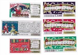GRATTA E VINCI - BUONE FESTE - TERNO E VINCI - LA FORTUNA SOTTO LA NEVE - NATALE CON LA FORTUNA - Biglietti Della Lotteria
