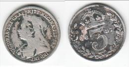 **** GREAT BRITAIN - GRANDE-BRETAGNE - 3 PENCE 1897 VICTORIA - SILVER - ARGENT **** EN ACHAT IMMEDIAT !!! - 1816-1901 : Frappes XIX° S.