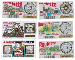 GRATTA E VINCI - ROULETTE - ROSSO E NERO - SETTE E VINCI - Biglietti Della Lotteria