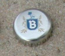 Capsule Crown Cap Argentée Blason B - Capsules & Plaques De Muselet