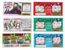 GRATTA E VINCI - SPACCA - LA CARTA DELLA FORTUNA - ASSO PIGLIA TUTTO - CACCIA AL TESORO - Biglietti Della Lotteria