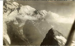 Cl. Aérien J.Cellard 154011955-Chamonix Le Telephérique Et Le Sommet Du Brévent - Recto Flamme + Timbre Quimper 1955 - Chamonix-Mont-Blanc