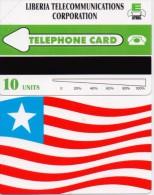LIBERIA PHONECARD LIBERIA TELECOMMUNICATIONS CORPORATION/FLAG-1/95  - 10units-MINT(2) - Liberia