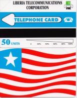 LIBERIA PHONECARD LIBERIA TELECOMMUNICATIONS CORPORATION/FLAG-1/95  - 50units-MINT(2) - Liberia